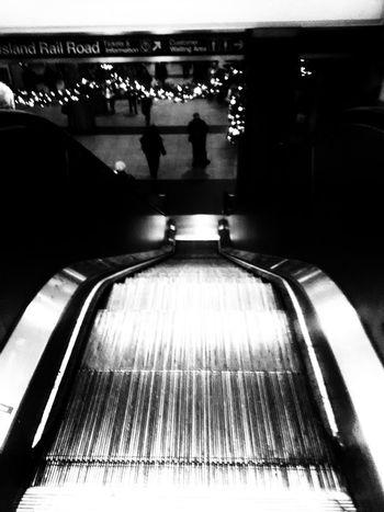 Homebound Holiday Pennstation Escalators Silver  LEESAHFRESHEYEPHOTOGRAPHY Shadow Lights And Shadows EyeEmNewHere Indoors  No People Illuminated Day