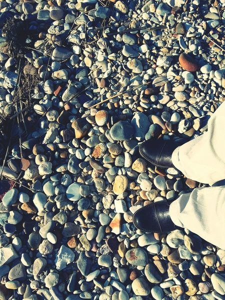 """""""Please dad, stay still... """" - I said... 😆😁 Man Shoes Beach Photography Looking Down Personal PerspectiveShowcase July Stones Floortraits Floortrait"""
