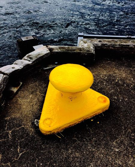 Yellow chrome Yellow No People Water Nautical Vessel EyeEmNewHere Art Is Everywhere Architecture Nautical Shipping  Boats Harbour Pier Landing Ferry Travel Sctoland