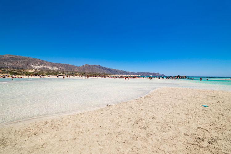 Elafonisi Beach on Crete, Greece Greece Griechenland Hellas Crete Kreta Mediterranean  Paradise Beach Pink Sand Elafonisi Elafonissi Blue Sky Turquoise Colored Turquoise Water Shallow Water