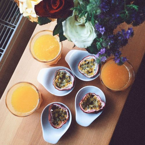Hanging Out Maracujá Passion Fruit Orange Juice  Roses What's On Your Shelf? Table From My Point Of View
