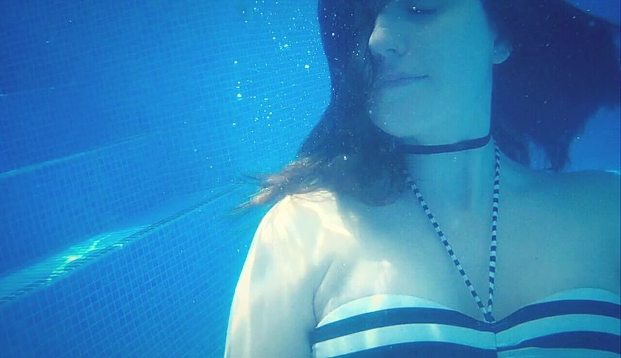 Water. Freedom. First Eyeem Photo Feel The Journey Water Underwater Swimming Self Portrait Calm Water Calm Relax Moment Girl Agua Piscina Nadar Swim Azul Blue