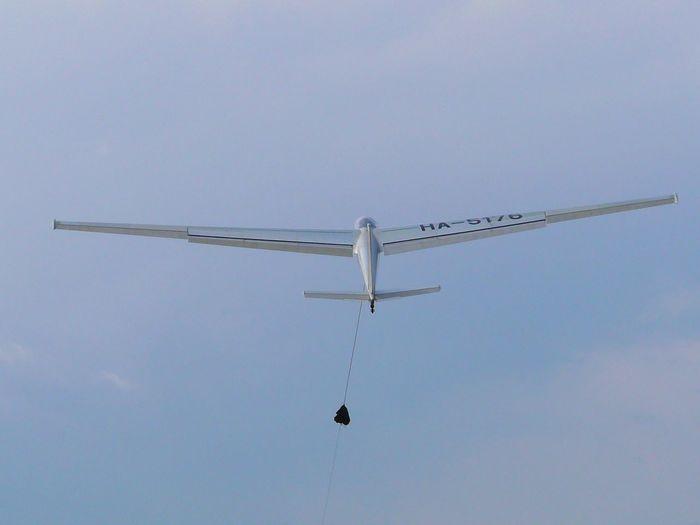 Blue Clear Sky Day Flying Glider Glider Winch Plane Sky