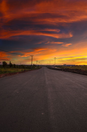 the best of sunset Sunset Rural Scene Road Blue Dramatic Sky Silhouette Sky Landscape Cloud - Sky Sky Only