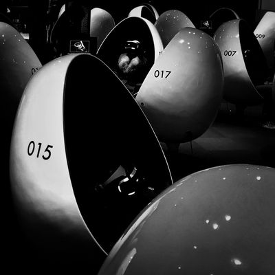 017 015 007 Future Vision Noir Bw_collection Bw Bnw_collection Bnw High Contrast Black & White Blackandwhite Future Egg Eggs... Tokyo Japan Together Alone Alone Together Virtual Reality Cyberspace