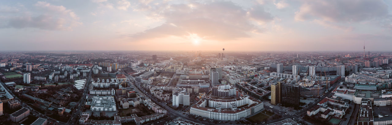 360 Panorama Aerial Shot Axel Springer City Cityscape Cloudy Sky Construction Site DJI X Eyeem From Above  Morning Panorama TV Tower Weather Welt Aerial View Balloon Dronephotography Evening Progress Scenics Sun Sunrise Sunset Urban Landscape Urban Skyline