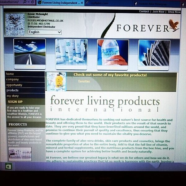The website it up and running. Take a look. :-) myflpbiz.com/esuite/home/livealoeforever Foreverliving Foreveruk
