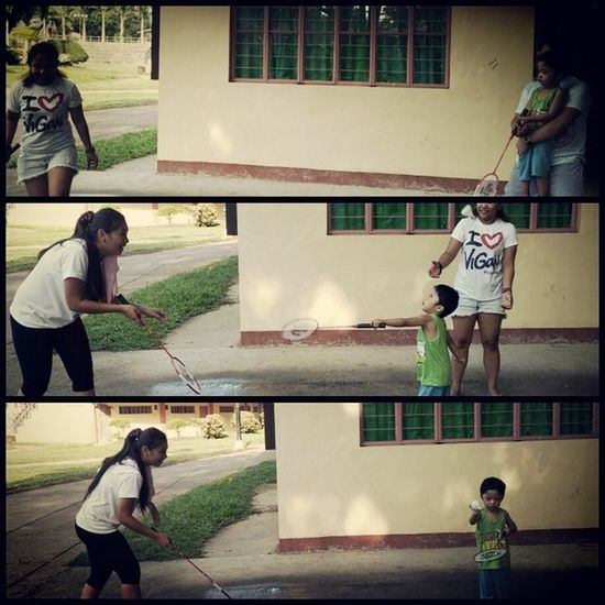 Jogging and badminton with mahy, emma, and babis!
