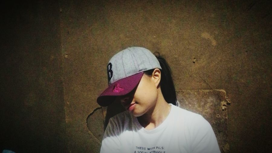 One Woman Only People One Person Child Adult Only Women One Young Woman Only Baseball Cap Day Young Adult Close-up First Eyeem Photo