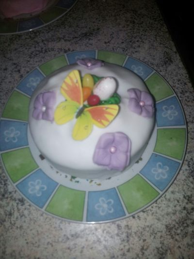 Happy Easter Fat Chilllax People Watching Cake