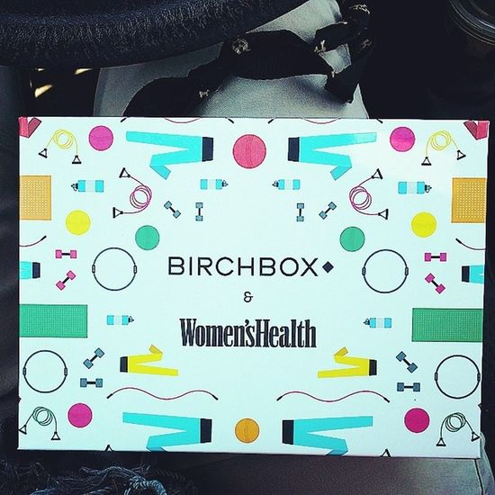 Didn't even wait to get home from the post office to open this month's Birchbox Excited