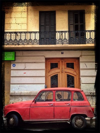 Classic Car Renault 4 Red