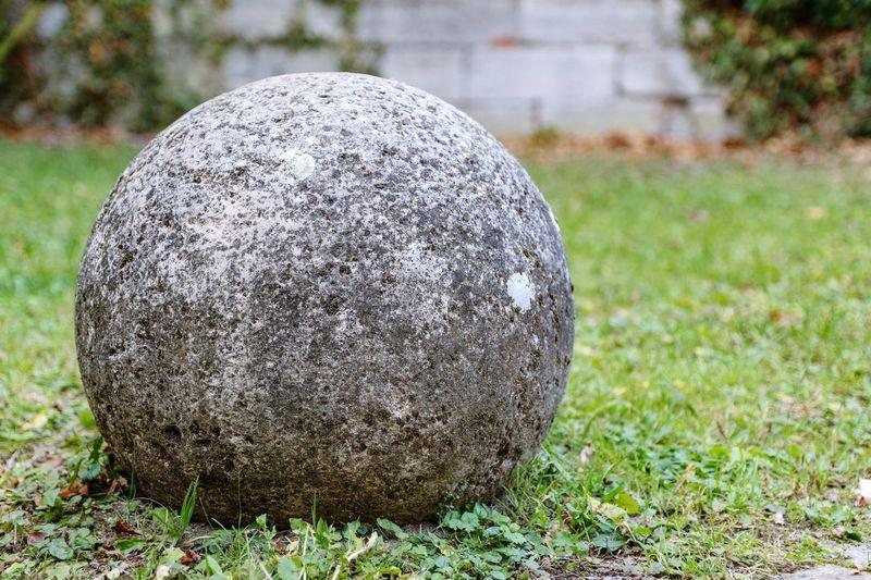 Stone Stoneball Ball Field Sport Sphere Close-up Grass
