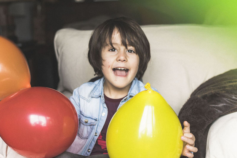 License to kill zombies and to melt human hearts. Child One Person People Childhood Balloon Happiness Indoors  Birthday Portrait Real People EyeEm Selects EyeEm Best Shots The Week On EyeEm Tender Tenderness And Warmth...