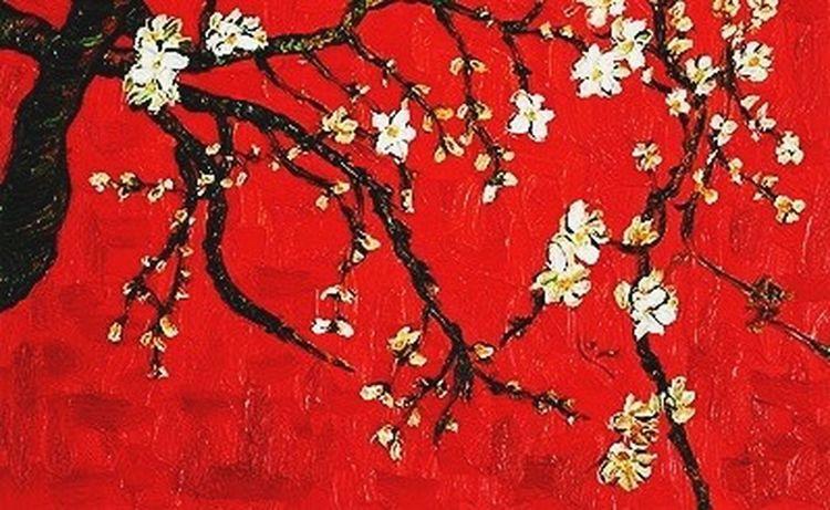 Painting Van Gogh Red