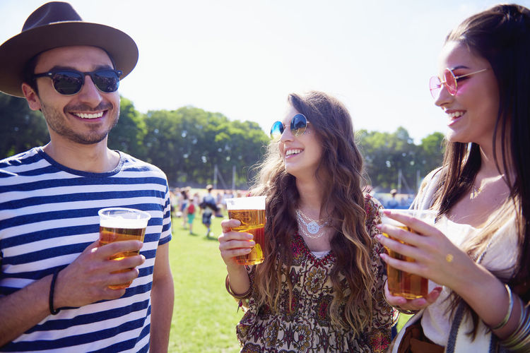 Music Festival Beer Alcohol Friends Festival Sunglasses Summer Sunlight Fun Couple Friendship Good Times Summer Festival Concert Cold Beer