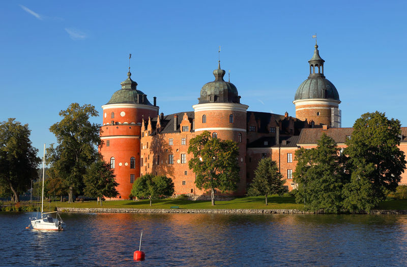 Gripsholm castle Beautiful Sweden Södermanland Architecture Building Building Exterior Built Structure Clear Sky Day Famous Place Gripsholm Castle Nature Nautical Vessel No People Outdoors Plant Sky Sweden Nature Tower Transportation Travel Travel Destinations Tree Water Waterfront
