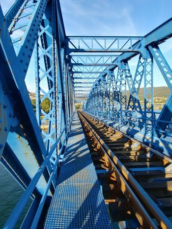 Bridge - Man Made Structure Connection Metal Transportation Day Suspension Bridge Girder Outdoors Architecture Built Structure No People Sky Steel