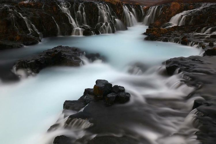 Iceland Long Exposure Flowing Flowing Water Motion Water Blurred Motion Waterfall Scenics Beauty In Nature Stream White Idyllic Rock - Object White Color Speed Nature Purity Non-urban Scene Remote Tranquil Scene