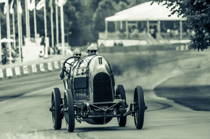 """The """"Beast of Turin"""" thunders up the hill Summer Fos Blackandwhite"""