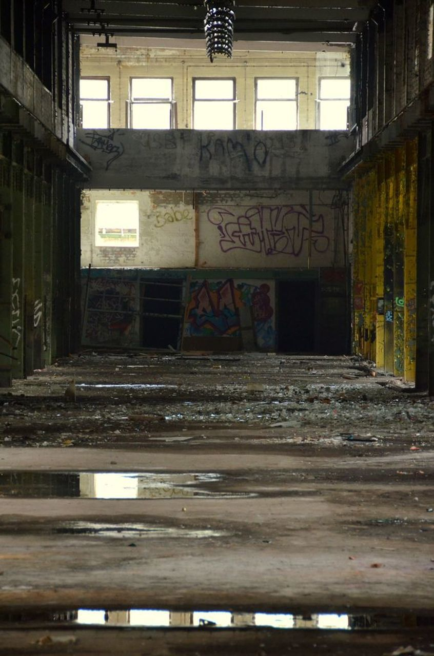 architecture, graffiti, abandoned, built structure, indoors, destruction, no people, day