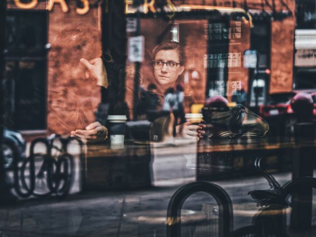 EyeEm Best Shots Streetphotography Fine Art Photography Fine Art Reflection Woman Chicago Portrait Portrait Of A Woman