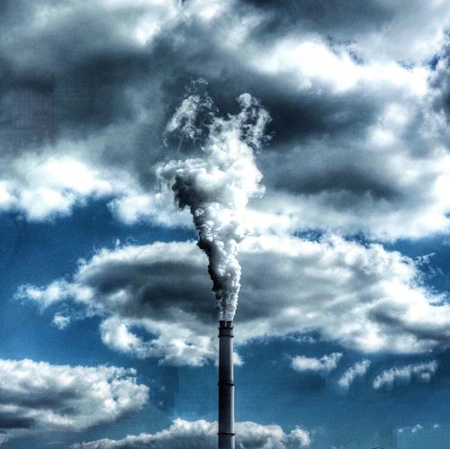 the big cloud painter Low Angle View Smoke - Physical Structure Industry Pollution Sky Emitting Environment Smoke Stack Cloud - Sky Day Chimney Environmental Damage Atmospheric Cloud Toxic Substance Cloudscape Blue Fumes Tall - High First Eyeem Photo