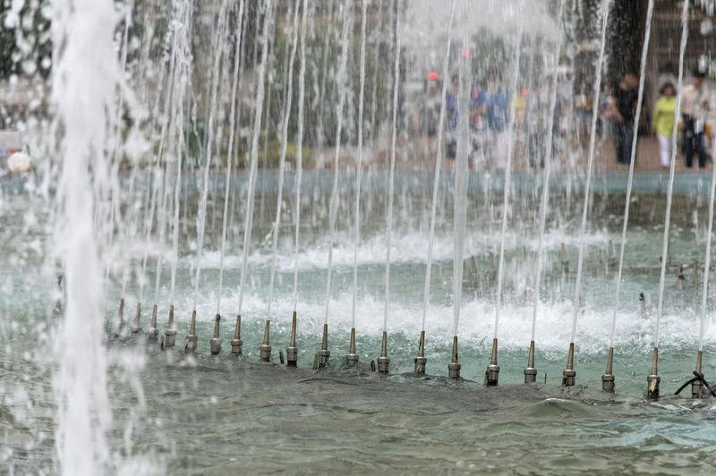 Water splashing in swimming pool