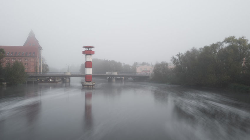 Leuchtturm Rathenow Architecture Beauty In Nature Building Exterior Built Structure Day Fog Foggy Long Exposure Nature No People Outdoors Scenics Sky Transportation Tree Water Weather Winter
