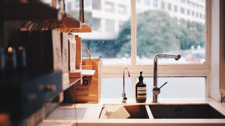 HongKong Coffee Window Indoors  No People Day Water