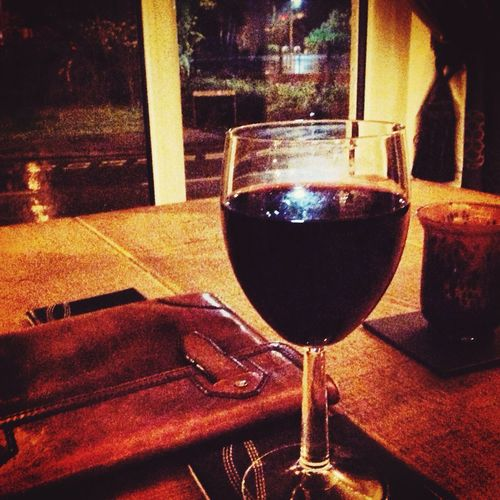 Not good out there; much better in here Wine Pub Winter Redwine