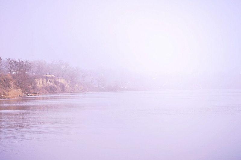 Danube River in Fog Izmail City