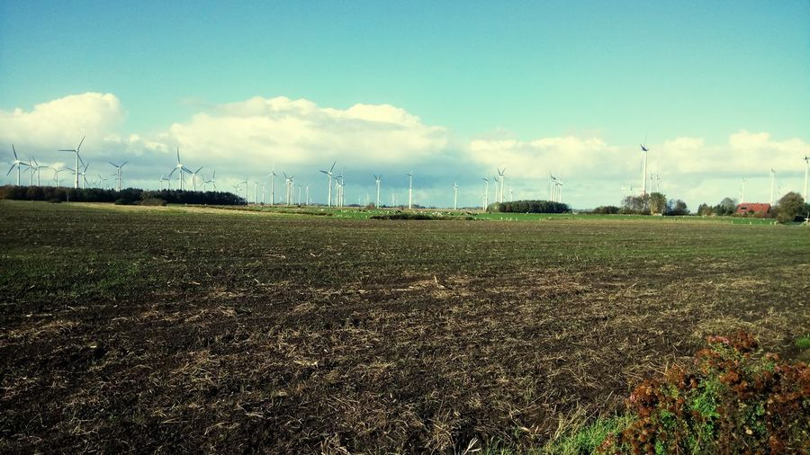 Ostfriesland Ostfriesland Landscape EyeEm Selects Electrical Grid Farmland Electricity Tower Power Line