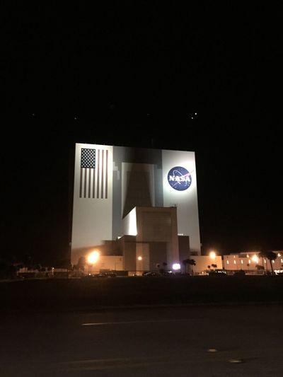 Vehicle Assembly Building at night. Historical Sights NASA Science NASAKennedy