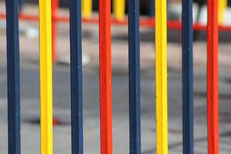 Close-up Day Full Frame No People Outdoors Yellow Multi Colored City Backgrounds Lines And Colors Red Yellow Color Blue Colors