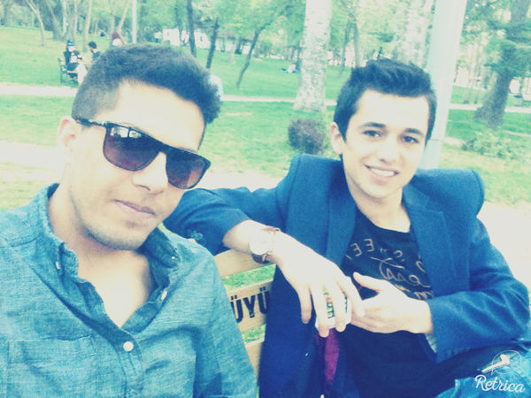 A lovely sunny day with my dear friend Basir Ahmad in kurtulus park@nice&@time&@ Relaxing