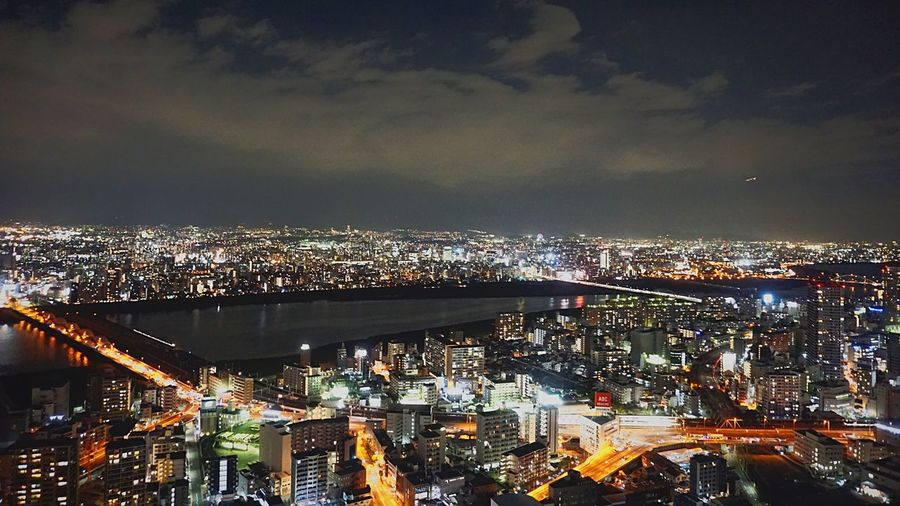Night View in Osaka 2 Night View OSAKA Architecture City Night Cityscape City Life