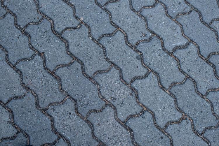Full frame shot of cracked road