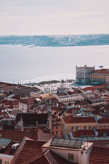 Travel Travel Destinations Lisbon Portugal EyeEm Best Shots Cityscape Water Sea Sky Architecture Beach Land Horizon Over Water Building Exterior Day High Angle View Built Structure Outdoors City Horizon