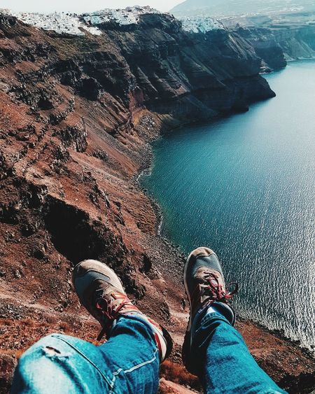Low Section Water Sea Men Beach Human Leg High Angle View Shoe Personal Perspective Underwater