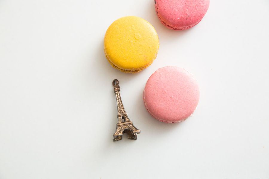 Colorful Food Cookies Dessert Eiffel Tower Food Food And Drink French French Food French Pastries Macaron Macarons Macaroon Meringue Paris Parisian Parisian Cliché ParisianLifestyle Pastries Ready-to-eat Still Life Sweet Food Treats White Background