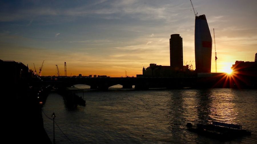London LONDON❤ Thames Sunset Thames River Thames Sky Sunset Built Structure Architecture Water Building Exterior City