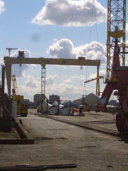 Industrial Photography Industrial Landscapes Industrial Northern Ireland Belfast Dry Dock Samson Harland And Wolff Harland&Wolff Yellow Shipbuilding Yard Shipyard Crane