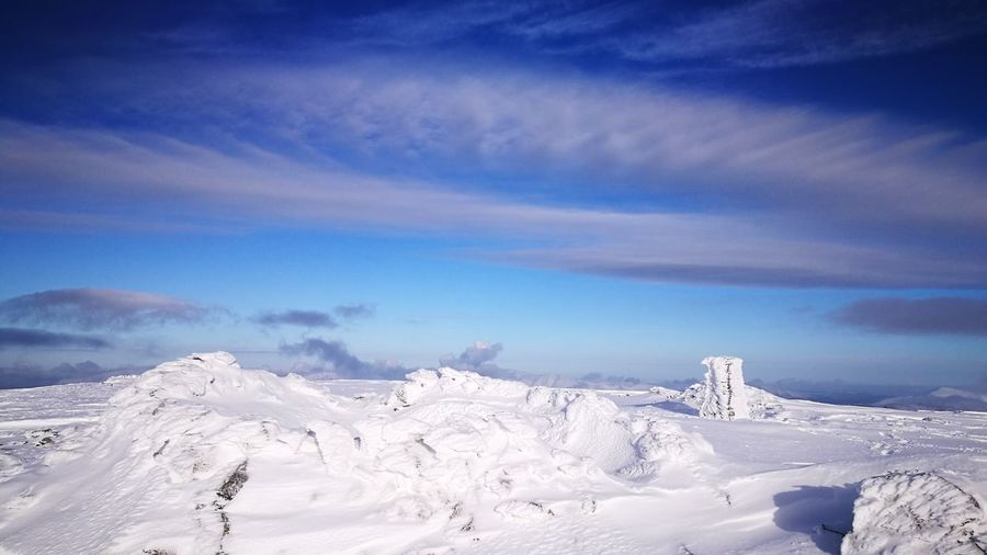 Pillar Summit Lakeland Lake District Uk Winter SnowMountain Scenery Landscape Hiking Is A Way Of Life And Worth The Effort ! Go Higher