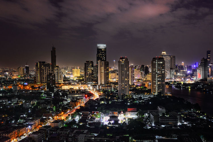 cityscape of thailand Cityscape Architecture Building Building Exterior Built Structure City Cityscape Cityscape Thailand Crowded Financial District  Illuminated Modern Night Office Building Exterior Outdoors Residential District Tall - High