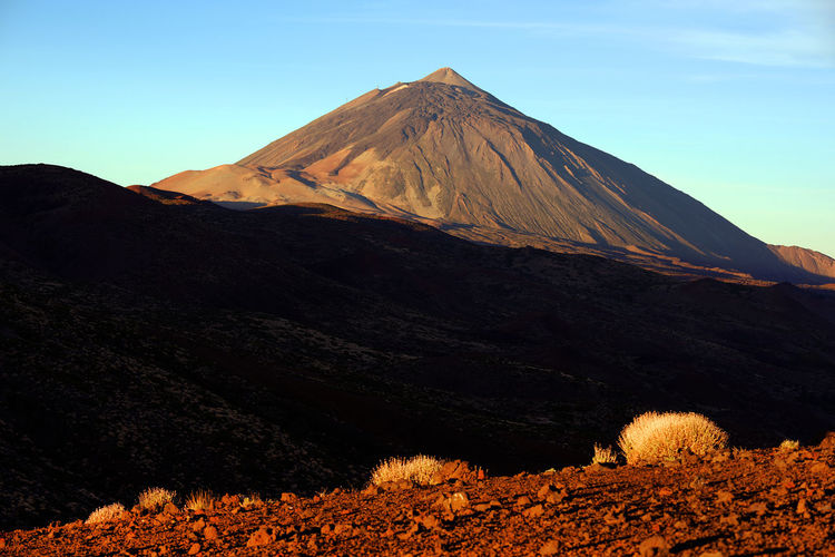 Majestic pico de teide against sky