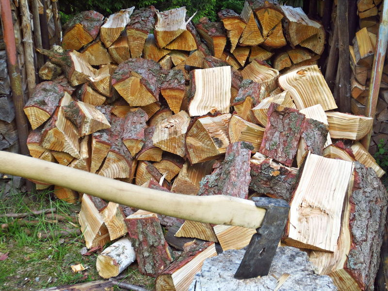 Axe Close-up Day Large Group Of Objects Log No People Outdoors Timber Wood - Material Woodpile Work Tool