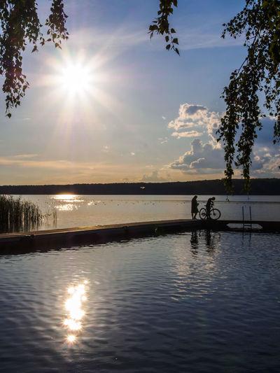 Ein Nachmittag am Scharmützelsee in Brandenburg und einen grandiosen Sonnenuntergang genießen... Beauty In Nature Bridge Cloud - Sky Day Jetty Lake Lake View Landing Stage Nature Outdoors Scenics Sky Sunset Tranquil Scene Tranquility Water Web