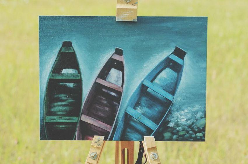 Relaxing Ukraine_art Oil Painting Ukraine Рівне / Rivne Artist Picture Art Eiff Water