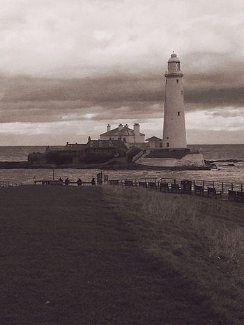 St Marys Lighthouse Black And White Friday
